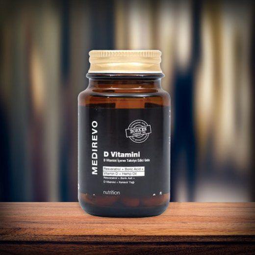 Resveratrol, Borik Asit, Kenevir Tohumu Yağ'lı D Vitamini